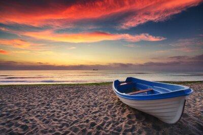Nálepka Člun a sunrise