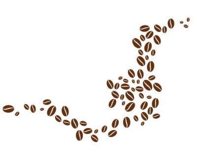Nálepka coffee bean icon vector