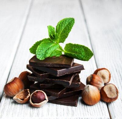 Nálepka čokoláda s oříšky