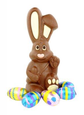 Nálepka Čokoládová velikonoční zajíček a vejce
