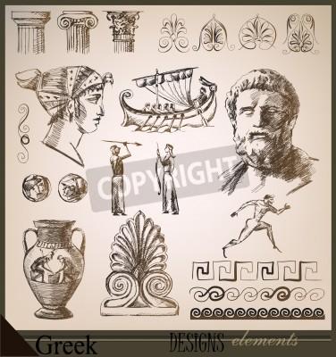 Nálepka collection of design elements Ancient Rome