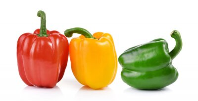 Nálepka colored peppers over white background