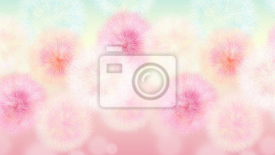 Colorful dandelion