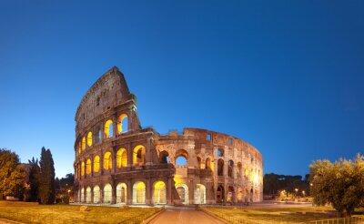 Nálepka Colosseum v noci .Rome - Itálie