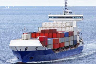 Nálepka Containerschiff auf der Ostsee bei Kiel