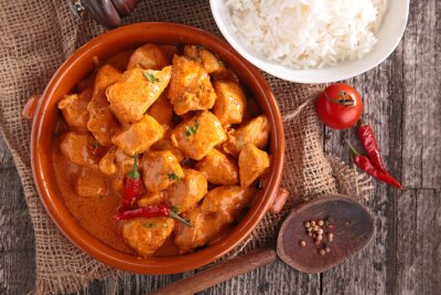 Nálepka curry chicken with sauce and rice