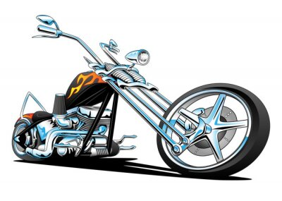 Nálepka Custom American Chopper Motorcycle