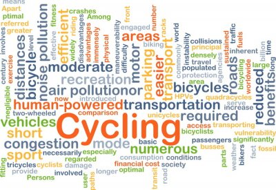Nálepka Cycling background concept