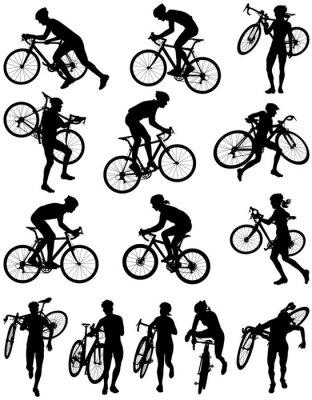 Nálepka Cyclocross racing vector silhouette