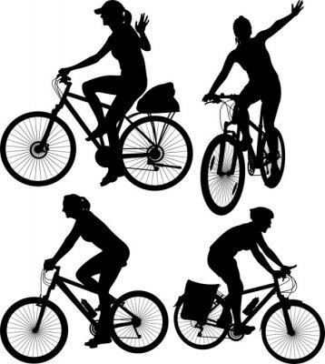 Nálepka cyklistické siluety
