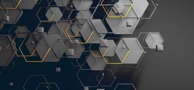 Nálepka Datos en la nube y red.Concepto de ciencia y tecnología.Malla y formas geométricas