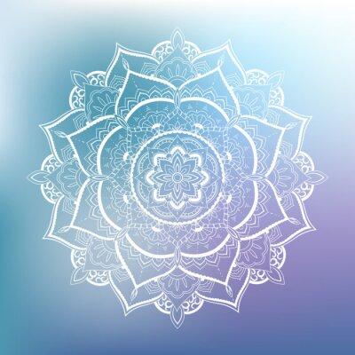 Nálepka Dekorativní kruh vzor. Mandala