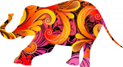 Nálepka Dekorativní slon