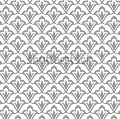 Nálepka Dekorativní vzor. Arabský vzor bezešvé. Marocké pozadí.