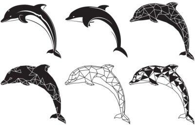 Nálepka delfíni