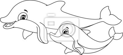 Nálepka Delfíni zbarvení stránky