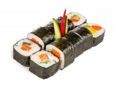 Nálepka Delicious sushi kousky