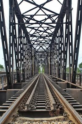 Nálepka Délka Rail přes řeku