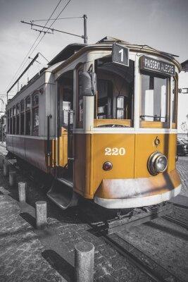 Nálepka Desaturated obraz vozíku Porto kromě jeho konkrétní žluté.