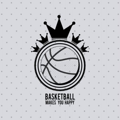 Nálepka Design basketbalová liga