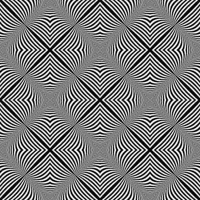 Nálepka Design bezešvé monochromatický iluze pozadí