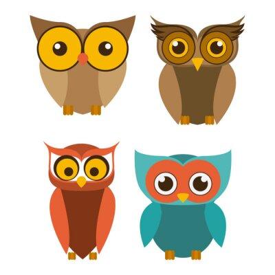 Nálepka Design Bird, vektorové ilustrace.