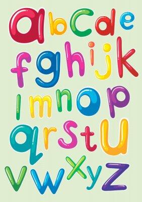 Nálepka Design Font se anglická abeceda