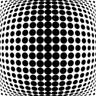 Nálepka Design monochrome dots background