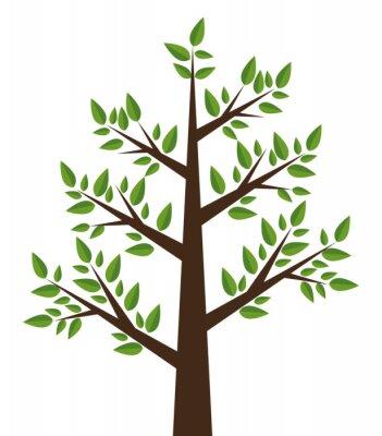Nálepka Design strom rostlin