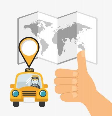 Nálepka Design taxislužba