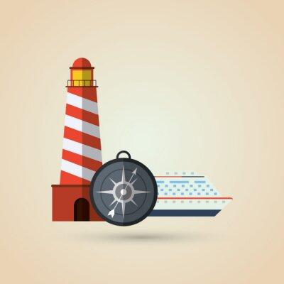 Nálepka Design Travel icon