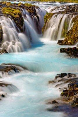 Nálepka Detail vodopádu Bruarfoss na Islandu