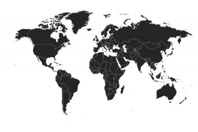 Nálepka Detailed, high resolution, accurate vector map of the world