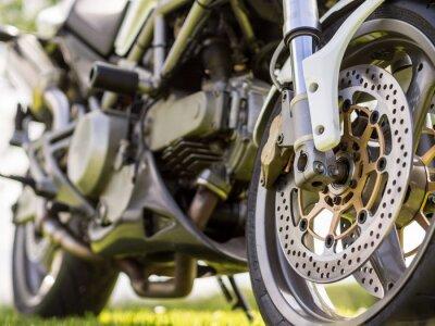 Nálepka Detaily přední kolo motocyklu