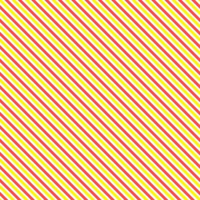 Nálepka Diagonální pruh bezešvé vzor. Geometrické klasická žlutá a červená čára na pozadí.