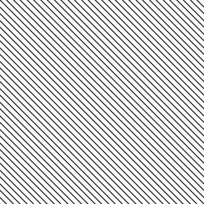 Nálepka Diagonální pruh bezešvé vzor. Geometrické klasické černé a bílé tenká čára pozadí.