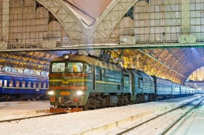 Nálepka Diesel osobní vlak ve Lvově, Ukrajina