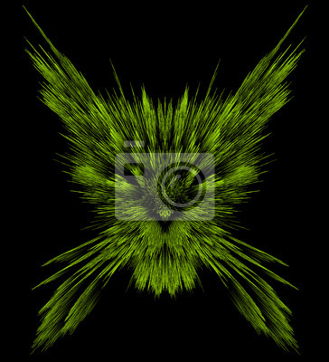 Digital abstract drawing of a cat.