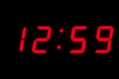 Digitální hodiny a čas utíká