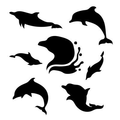 Nálepka Dolphin set vector