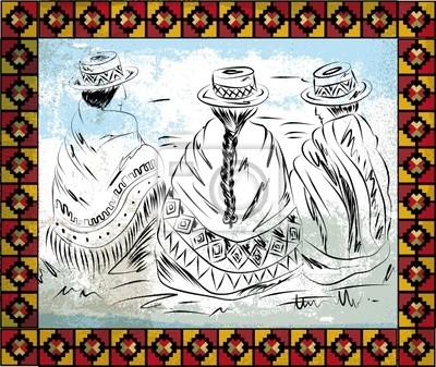 domorodé ženy ilustrace