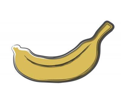 Nálepka doodle banán