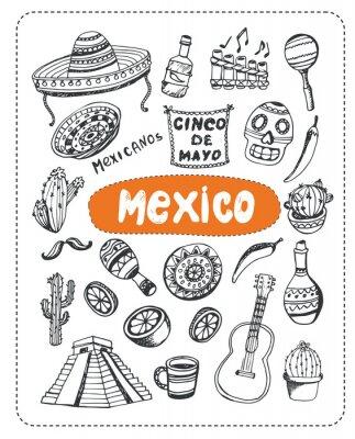Nálepka Doodle o Mexiku.