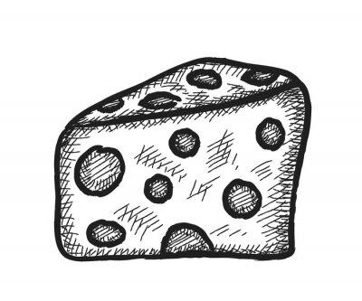 Nálepka doodle sýr
