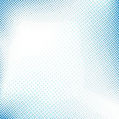 Nálepka Dotted modré abstraktní retro pozadí