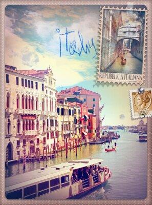 Nálepka Dovolená v Itálii a Benátky série