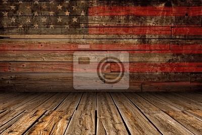 Nálepka Dřevěné American Stage