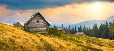 Nálepka Dřevěné domy Ukrajinské