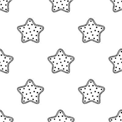 Nálepka Dřevěné hvězdy vzor 2