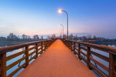 Nálepka Dřevěný most přes řeku Nogat na zámku v Malborku, Polsko